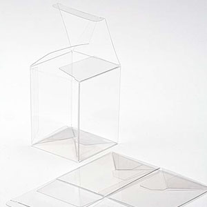 "3"" x 3"" x 4"" Crystal Clear Cube Boxes (25 Pieces)"