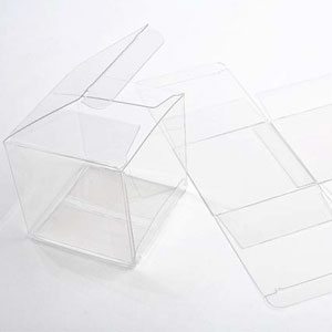 "4"" x 4"" x 4"" Soft Fold Clear Boxes (25 Pieces)"