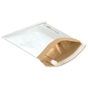 "7 1/4"" x 12"" (1) White Self-Seal Padded Mailers 25/Case"