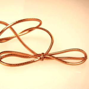 10 inch Metallic Copper Stretch Loop (50 pack)