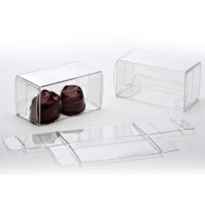 "2 3/4"" x 1 3/8"" x 1 7/16"" Chocolate Box (25 pack)"