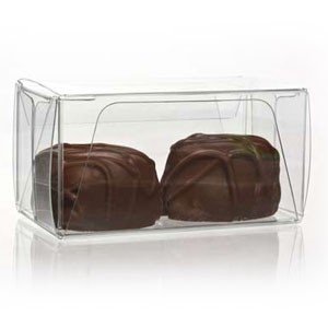 "1 3/8"" x 1 7/16"" x 2 3/4"" Chocolate Box with Insert (100 pack)"