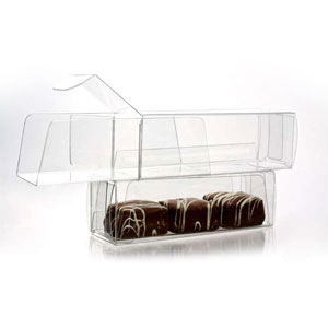 "1 3/8"" x 1 3/8"" x"" 4 1/4"" Chocolate Box with Insert (100 pack)"
