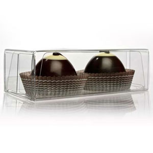 "2 1/8"" x 1 3/8"" x 4 1/4"" Truffle Box with Insert (100 pack)"