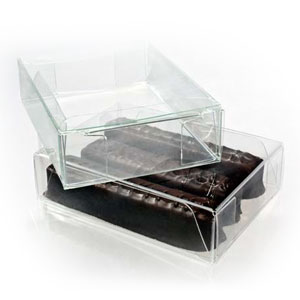 "2 5/8"" x 1"" x 3 9/16"" Chocolate Box with Insert  (100 pack)"