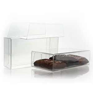 "2 3/4"" x 5 1/2"" x 1 7/16"" Chocolate Box with Insert (100 pack)"
