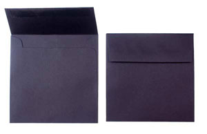 "Black, Premium Cougar Opaque Envelopes 6 1/2 x 6 1/2"" (50 pack)"
