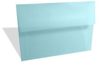 Pastel Blue Translucent Vellum (A2/5.5 Bar) 5 3/4 x 4 3/8 (50 pack)
