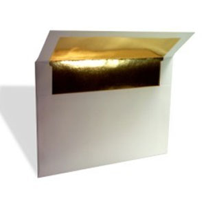 Gold Foil Lined Envelope White (A7/Lee) 7 1/4 x 5 1/4 (50 pack)