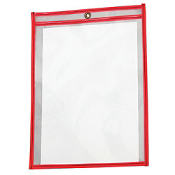 "9"" x 12"" Red Job Ticket Holders 25/Case"