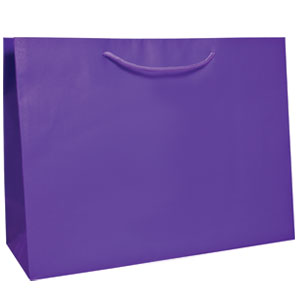 "16 x 6 x 12"" Purple Tint Tote 100/Case"