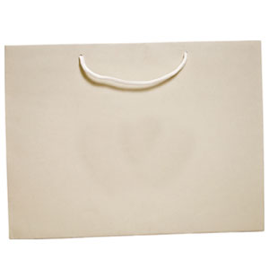 "6 1/4 x 3 1/2 x 8 1/2"" Ivory Tint Tote 50/Case"