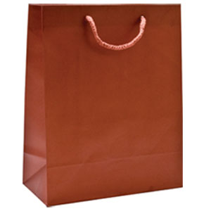 "16 x 6 x 12"" Copper Aubrey Shopping Bags 100/Case"