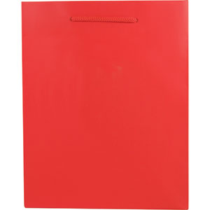 "5 1/2 x 3 1/2 x 6"" Red Gloss Laminated Shopping Bags 100/Case"