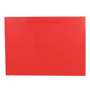 "6 1/4 x 3 1/2 x 8 1/2"" Red Matte Laminated Shopping Bags 100/Case"