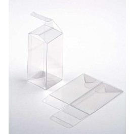 "2 1/2"" x 2 1/2"" x 5 1/4"" Crystal Clear Cube Boxes (25 Pieces)"