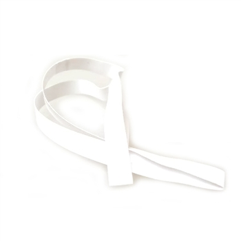 "10"" White Vinyl Stretch Loop - 1/4"" Wide (50 pack)"