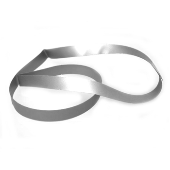 "10"" Silver Vinyl Stretch Loop - 1/4"" Wide (50 pack)"
