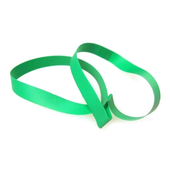 "10"" Green Vinyl Stretch Loop - 1/4"" Wide (50 pack)"
