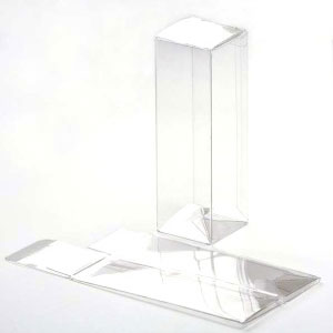 "1 5/8"" x 1 5/8"" x 5"" Crystal Clear Boxes (25 Pieces)"