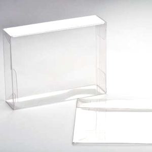 "2 1/4"" x 1"" x 3 11/16"" Soft Fold Clear Boxes (25 Pieces)"