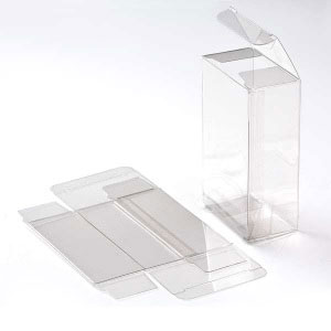 "2 5/8"" x 1 1/2"" x 4 5/16"" Soft Fold Clear Boxes (25 Pieces)"