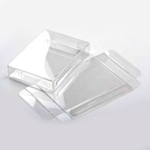 "2 3/4"" x 5/8"" x 3 3/4"" Soft Fold Clear Boxes (25 Pieces)"