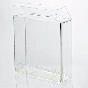 "3 1/8"" x 13/16"" x 3 1/8"" Soft Fold Clear Boxes"