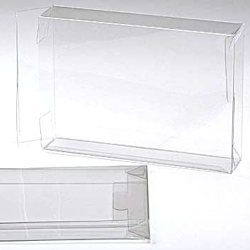 "5 3/8"" x 1 1/2"" x 7 3/8"" Soft Fold Clear Boxes (25 Pieces)"