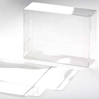"5 3/8"" x 3"" x 7 3/8"" Soft Fold Clear Boxes (25 Pieces)"