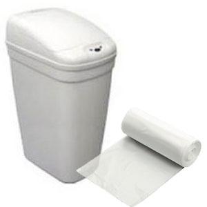 "7 - 10 Gallon Medium Gauge Clear Trash Bags (Size: 15"" x 9"" x 23"")"