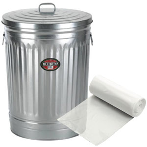 "20 - 30 Gallon Ex-Heavy Gauge Clear Trash Bags (Size: 16"" x 14"" x 36"")"