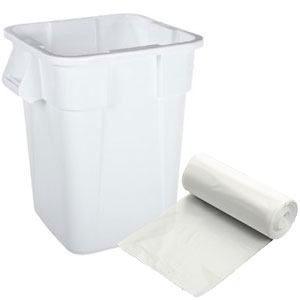 "40-44 Gallon Medium Gauge Clear Trash Bags (Size: 23"" x 17"" x 46"")"