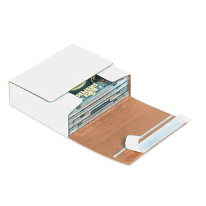 5 3/4 x 5 1/16 x 1 3/4 Self Seal CD Mailer 200/Case
