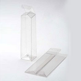 2 1/4 x 2 1/4 x 9 Crystal Clear Boxes Pop & Lock (25 Pieces)