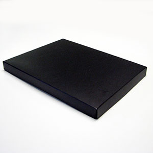 "Matte Black Letterhead 2 Piece Set-up Boxes (11 1/4 x 8 3/4 x 1"")"