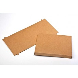 "3 3/4"" x 5/8"" x 5 3/8"" Kraft Paper Box (25 Pieces)"
