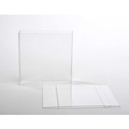 "4 3/16"" x 1 1/16"" x 4 1/4"" Crystal Clear Box Slip Cover (25 Pack)"