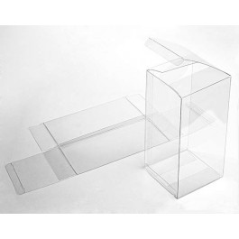 "4"" x 4"" x 8"" Crystal Clear Boxes (25 Pieces)"