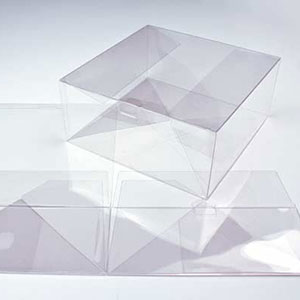 "9"" x 9"" x 4"" Auto Lock Bottom Soft Fold Clear Boxes (25 Pieces)"