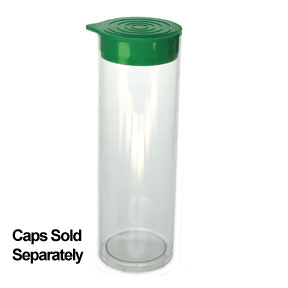 "1 1/2"" x 8"" Plastic Packaging Tube"