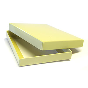 "2 Piece Set-up A2/5.5 Bar French Vanilla Stationery Boxes (5 7/8 x 4 1/2 x 3/4"")"