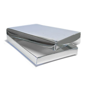 "2 Piece Set-up A2/5.5 Bar Silver Stationery Boxes (5 7/8 x 4 1/2 x 3/4"") 100/Ctn"