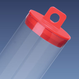 "2"" Red Hanging Tube Cap"