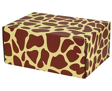"Giraffe Print Decorative Self Seal Shipping Boxes 12 1/4"" x 8 4/5"" x 5 1/2"" 24/Carton"