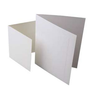 "4 Bar 4 7/8"" x 3 1/2"" Premium Plain Card, White (50 Pieces)"