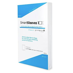 "//Temporarily Out Of Stock// Antimicrobial SmartSleeves for Tablets, Box of 250 Pieces (8 3/16"" x 12"