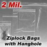 2 Mil Reclosable Bag with Hanghole (Bag Size: 3