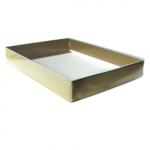 Matte Gold Stationery Boxes (10 x 7 x 2