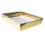 4 Bar/A1 Gold Foil Greeting Card Boxes (5 1/4